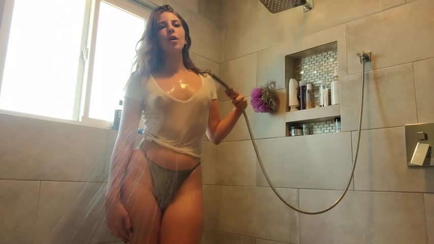 [Full HD] Audrey Wet T Shirt Shower Audrey - ManyVids-00:06:53   Bubbles, Hair Washing, Shower, Wet T-Shirt - 237 MB