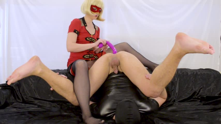 [Full HD] Dirtylady Prostate Milking With Strapon DirtyLady - ManyVids-00:09:45 | Femdom, Strap-On, Pegging, Prostate Massage, Amateur - 1,4 GB
