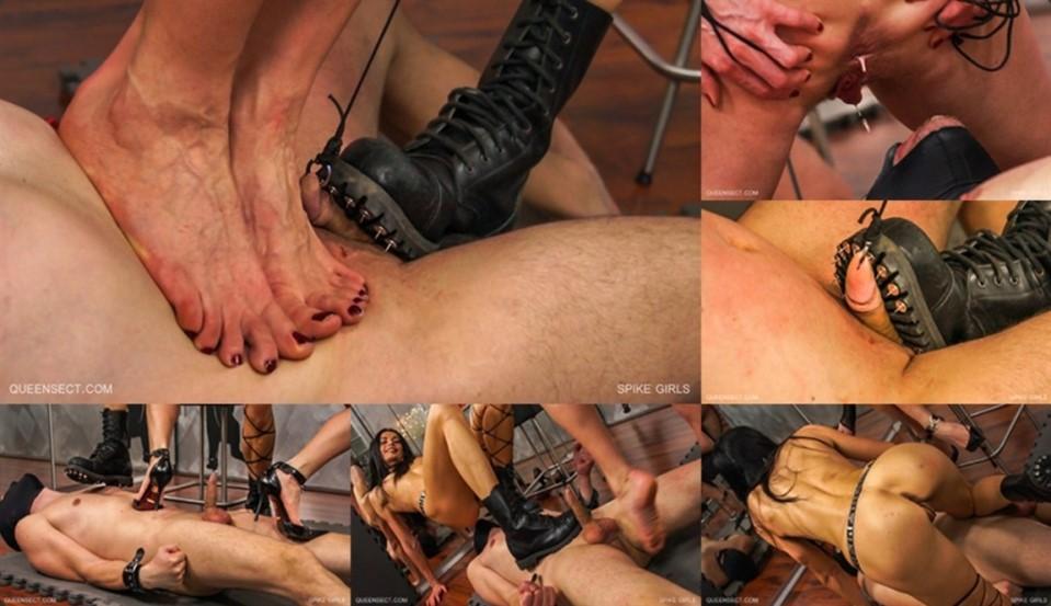 [LQ] Spike Girls Nazryana, Queensnake - QueenSnake-00:35:18   Cbt, Trampling, High Heels, Femdom, Ballbusting, Thumbtacks, BDSM, Kicking - 589,4 MB