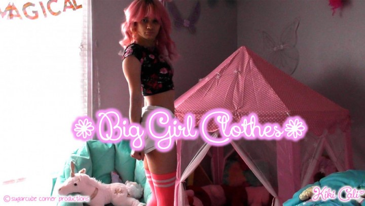 [Full HD] Kiki Cali Big Girl Clothes Kiki Cali - ManyVids-00:07:31 | Age Play, Age Regression, Adult Babies, Diaper Fetish, Pee - 1,1 GB