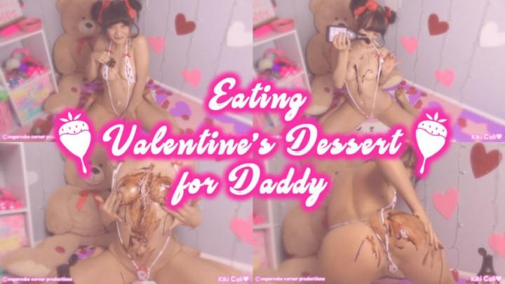 [HD] Kiki Cali Eating Valentines Dessert For Daddy Kiki Cali - ManyVids-00:06:49 | Age Play, Daddys Girl, Food Sploshing, Squirting, Valentine'S Day - 587,4 MB