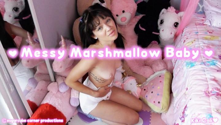 [HD] Kiki Cali Messy Marshmallow Baby Kiki Cali - ManyVids-00:09:34 | Diaper, Diaper Fetish, Daddys Girl, Adult Babies, Age Regression - 835,1 MB