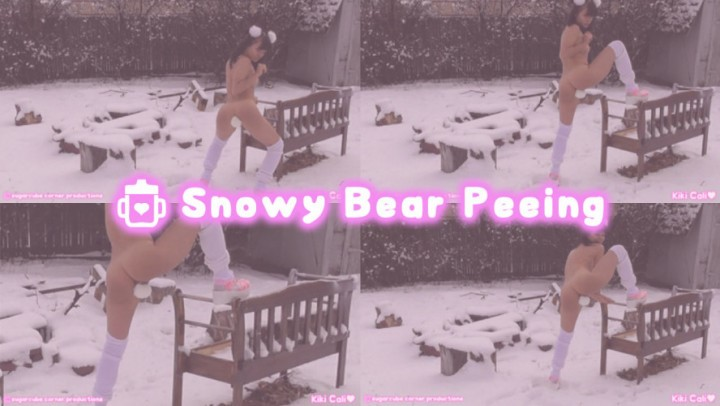[HD] Kiki Cali Snowy Bear P--Ing Kiki Cali - ManyVids-00:01:07 | Age Play, Pet Play, Pee, Outdoors, Daddys Girl - 93,3 MB