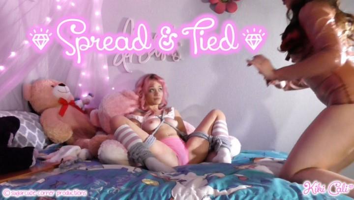 [HD] Kiki Cali Spread Amp Tied Kiki Cali - ManyVids-00:05:58 | Femdom, Age Play, Spanking F/F, Flogging, Tickling - 519 MB