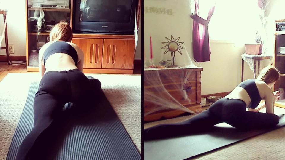 [Full HD] Satanica Yoga Stretching Clit Rubbing Satanica - ManyVids-00:11:08 | Yoga Pants, Stretching, Vibrator, Fitness, Redhead - 651,7 MB