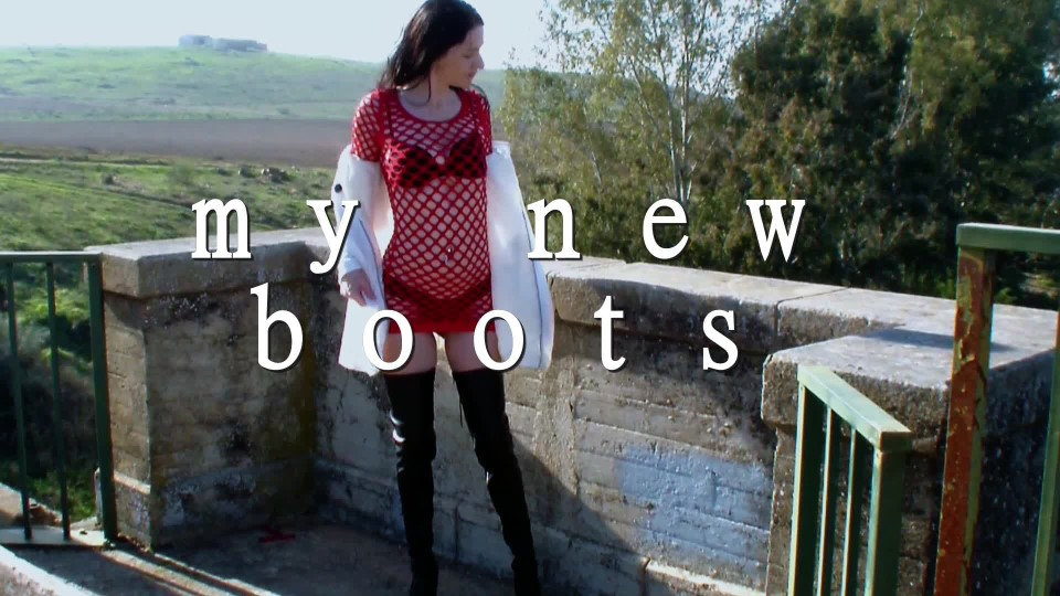 [Full HD] Spaingirl My New Boots Spaingirl - ManyVids-00:03:40 | Boot Fetish, Boots, Lace/Lingerie, Outdoors - 570,4 MB