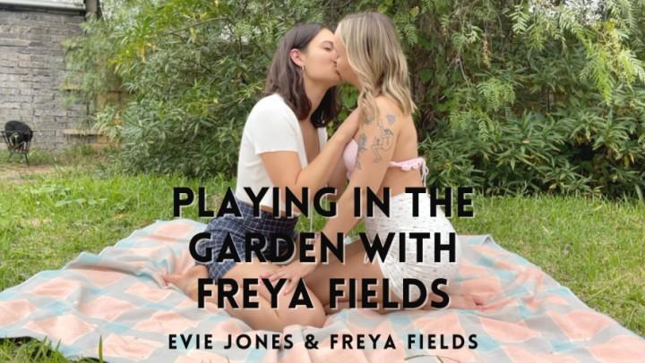 Evie Jones Hd Playing In The Garden With Freya