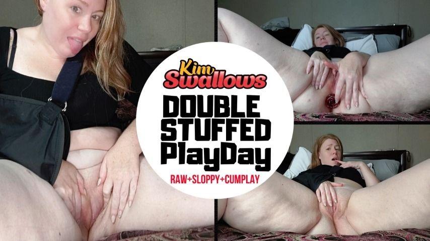 [Full HD] Kimswallows Double Stuffed Play Day Kimswallows - ManyVids-00:17:28 | BBW,Toys,Anal Masturbation,Duel Masturbation,Masturbation - 576,1 MB