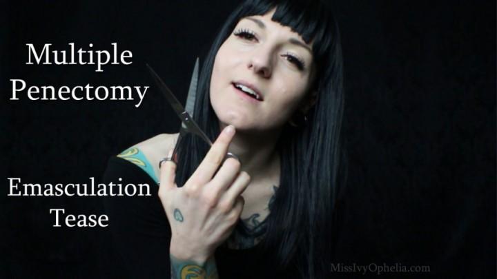 [Full HD] Missivyophelia Multiple Penectomy Emasculation Tease MissIvyOphelia - ManyVids-00:09:34 | Penectomy,SPH,Femdom,Slave Training,Erotic Magic - 699 MB