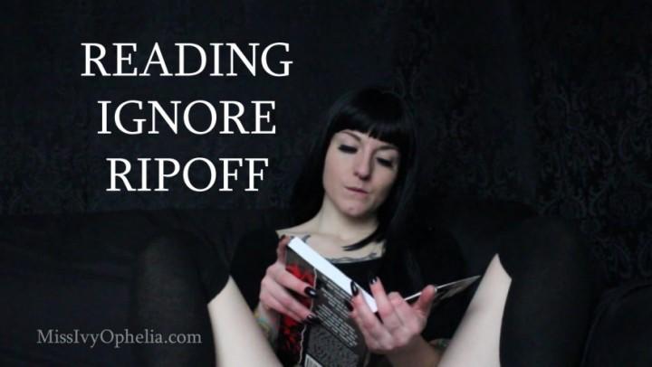 [HD] Missivyophelia Reading Ignore Ripoff MissIvyOphelia - ManyVids-00:21:49 | Ripoff,Ignore,Femdom,Brat Girls,Verbal Humiliation - 1 GB