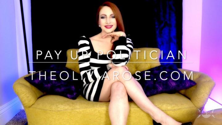 [Full HD] Olivia Rose Pay Up Politician Olivia Rose - ManyVids-00:09:06 | Femdom POV,Blackmail Fantasy,Female Domination,Men Following Orders,Cross-Dressing - 331,1 MB