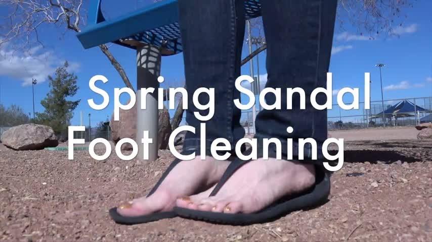 Olivia Rose Spring Sandal Foot Cleaning