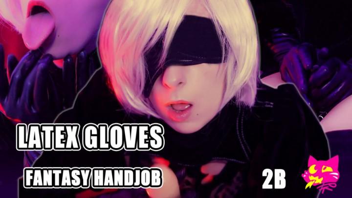 Pitykitty 2B Latex Gloves Fantasy Handjob
